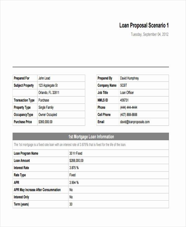 Business Loan Proposal Template Inspirational 5 Loan Proposal Templates Word Pdf Pages