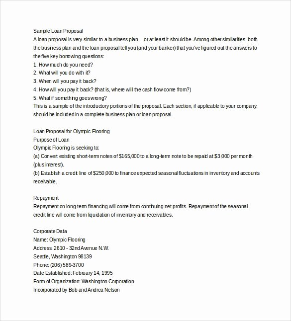 Business Loan Proposal Template New 25 Free Business Proposal Templates