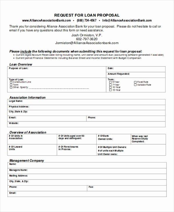 Business Loan Proposal Template Unique 5 Loan Proposal Templates Pdf Word