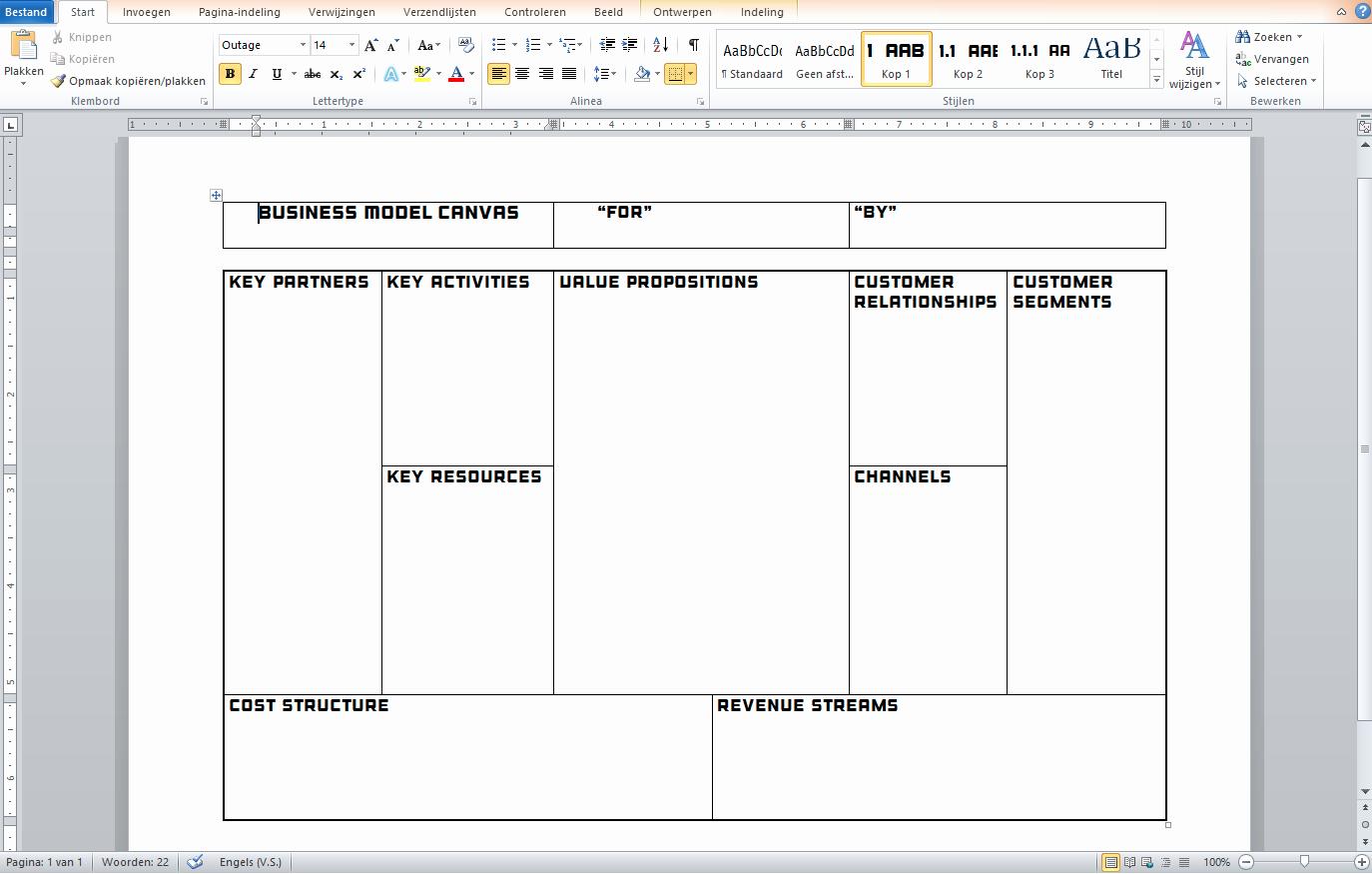 business model questionnaire