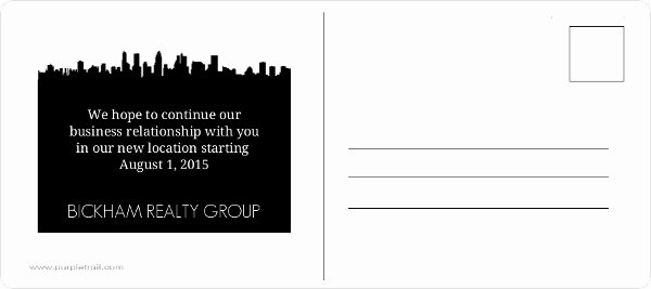 Business Moving Announcement Template Elegant Black Contact Icons Postcard Business Moving Announcement