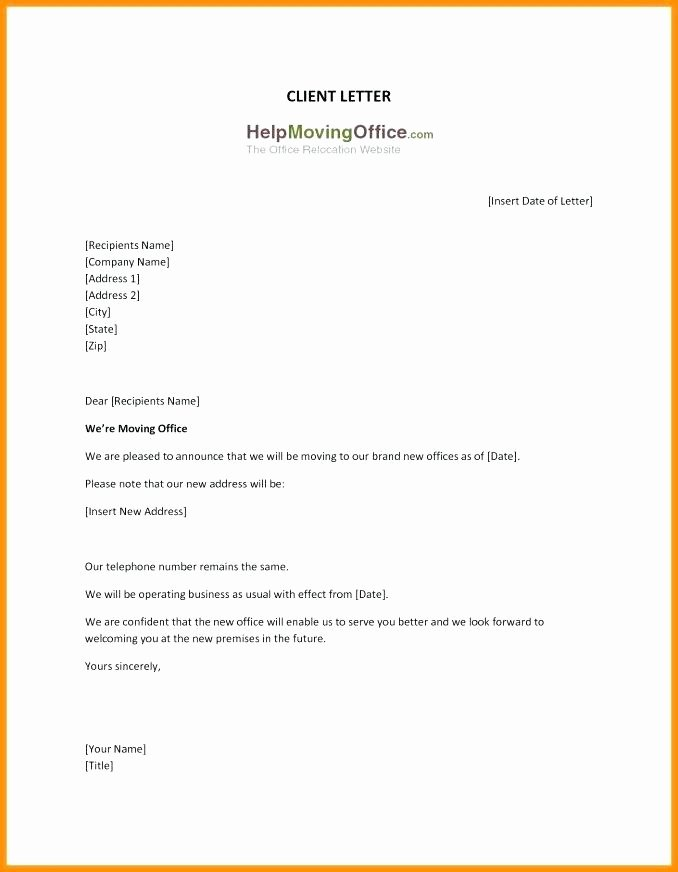 Business Moving Announcement Template Elegant Pany Relocation Letter Template Employee Relocation