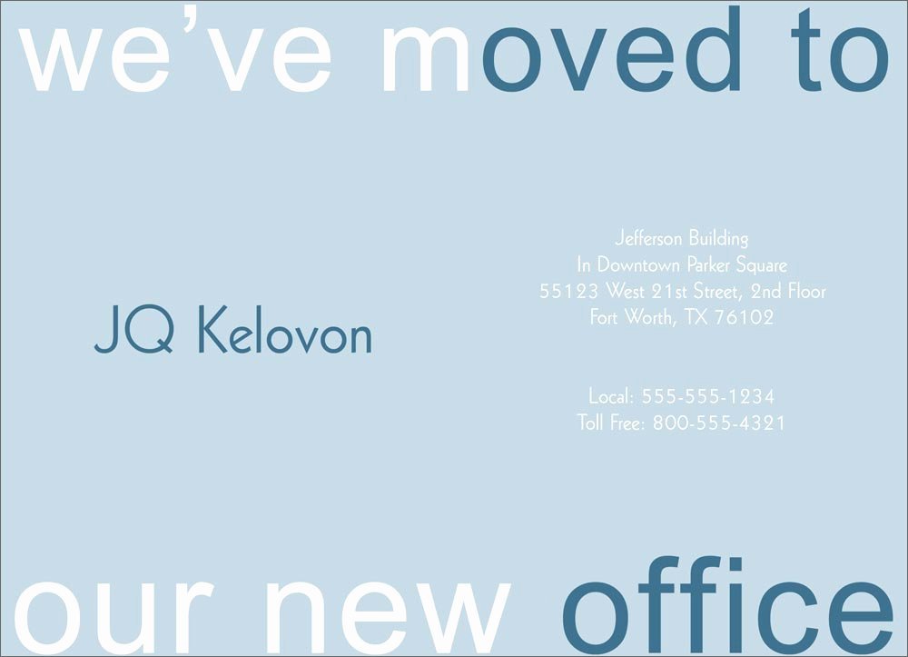 Business Moving Announcement Template Luxury Blue We Ve Moved Card Pany Moving From Cardsdirect