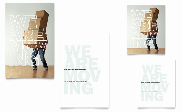 Business Moving Announcement Template Luxury We Re Moving Note Card Template Word & Publisher