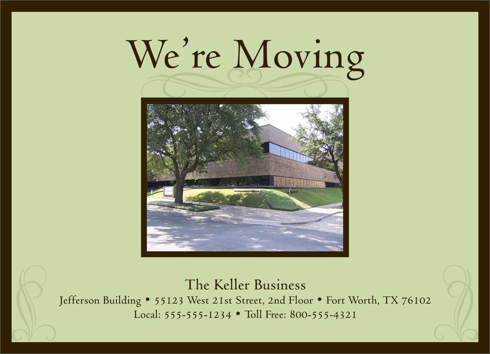 Business Moving Announcement Template Unique Elegant Moving Card Moving Announcements From