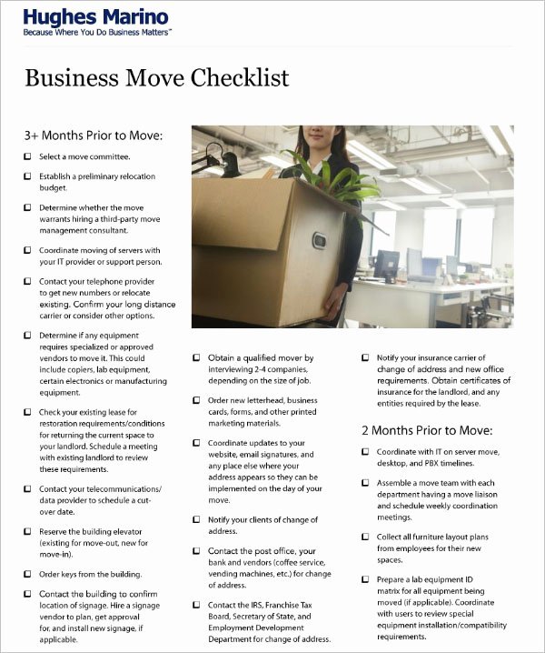 Business Moving Checklist Template Elegant 46 Moving Checklist Templates Free Pdf Word Excel formats