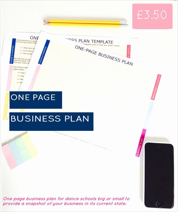 Business One Sheet Template Elegant 21 Simple Business Plan Templates