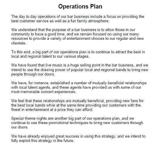 Business Operational Plan Template New How to Write An Operational Plan for A Business