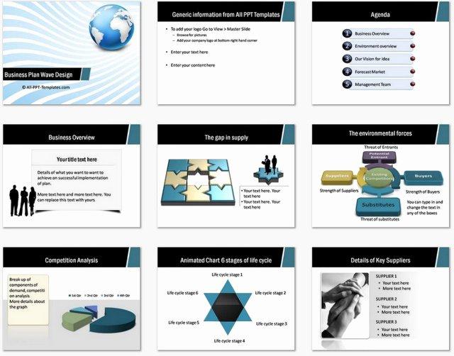Business Plan Powerpoint Template Best Of Powerpoint Business Plan Wave Design