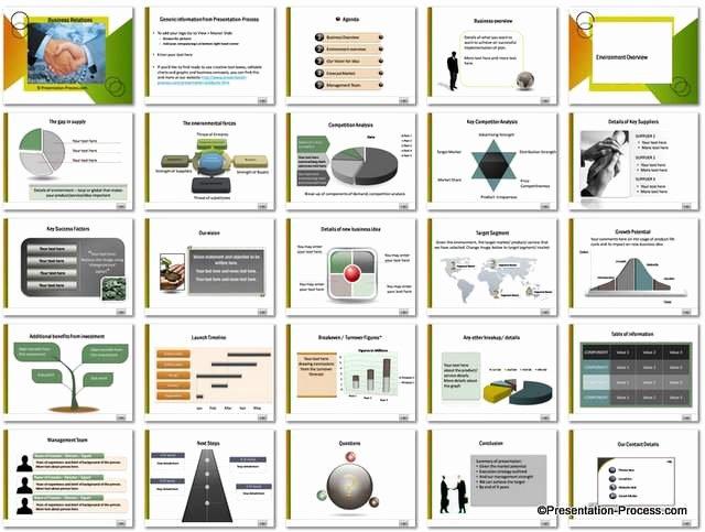 Business Plan Powerpoint Template Inspirational Business Relations Powerpoint Template Set