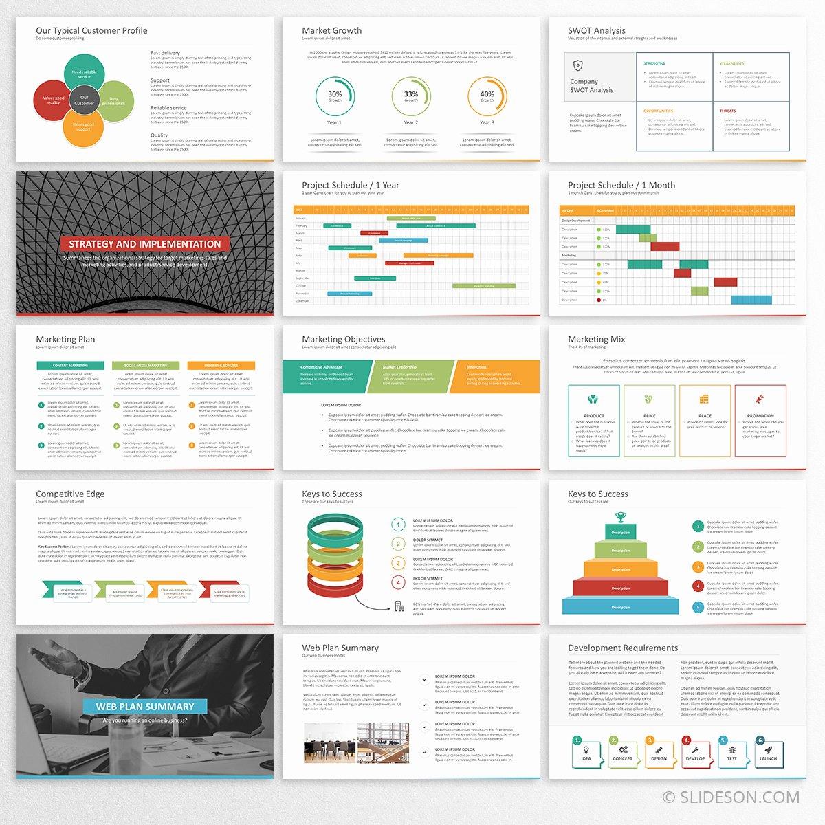 Business Plan Powerpoint Template Luxury Business Plan Template for Powerpoint Slideson