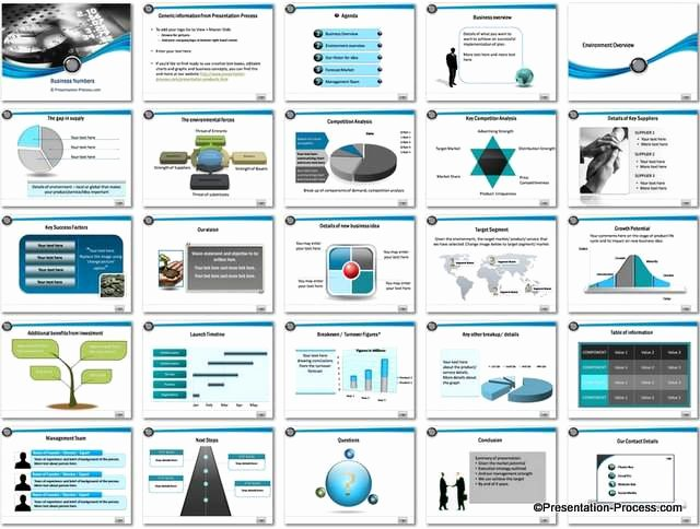 Business Plan Template Powerpoint Awesome Business Numbers Powerpoint Template
