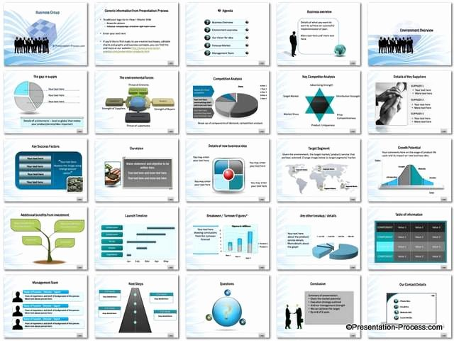 Business Plan Template Powerpoint Unique Business Group Powerpoint Template Set