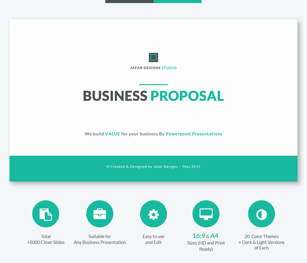 Business Proposal Powerpoint Template Inspirational Business Proposal Powerpoint Template On Behance