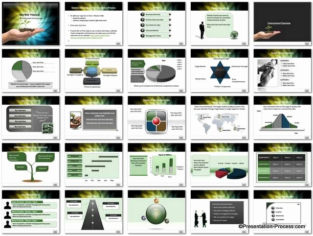 Business Proposal Powerpoint Template Luxury Business Idea Potential Powerpoint Template Set