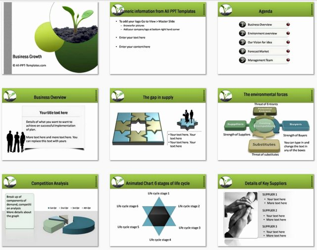 Business Proposal Powerpoint Template Luxury Powerpoint Business Plan Growth Template