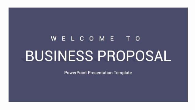 Business Proposal Powerpoint Template New Business Proposal Powerpoint Presentation Template