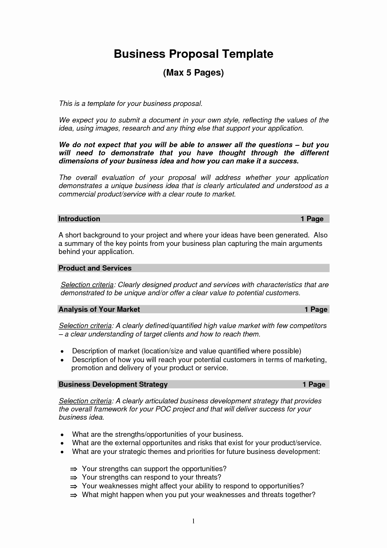 Business Proposal Template Pdf Awesome Printable Sample Business Proposal Template form