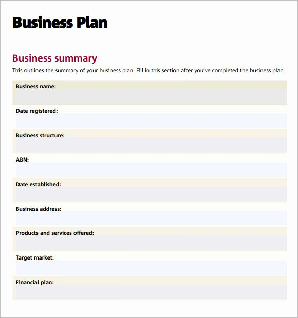 Business Proposal Template Pdf Elegant Business Plan Templates 6 Download Free Documents In