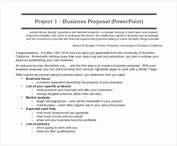 Business Proposal Template Pdf Inspirational 46 Project Proposal Templates Doc Pdf