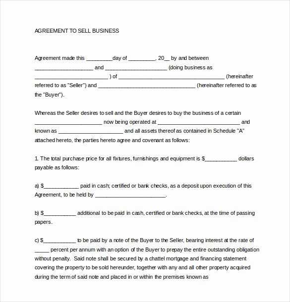 Business Purchase Agreement Template Elegant Business Sale Agreement Template Free Download