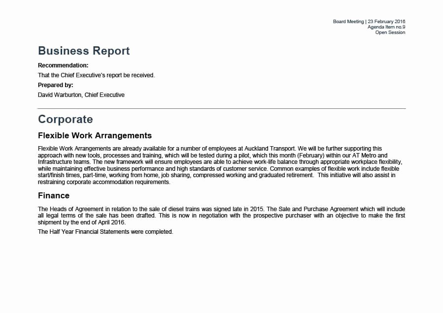 Business Report format Template Best Of 30 Business Report Templates & format Examples Template Lab