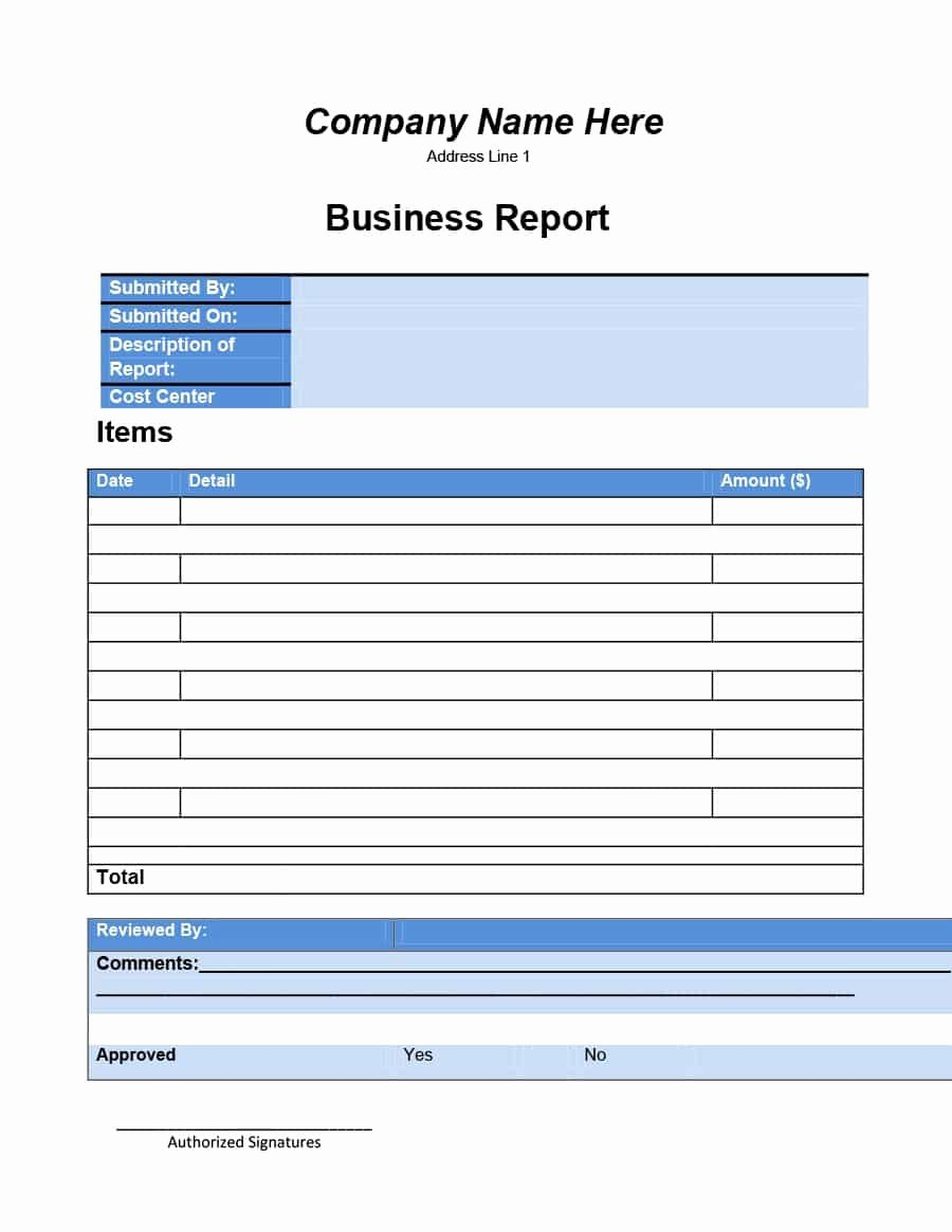 Business Report format Template Inspirational 30 Business Report Templates & format Examples Template Lab