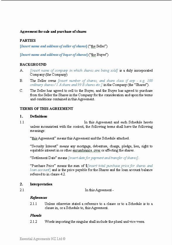 Business Sale Agreement Template Awesome Business Sale and Purchase Agreement Template