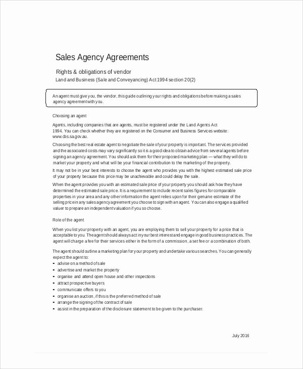 Business Sale Agreement Template Best Of Sales Agent Contracts Design Templates