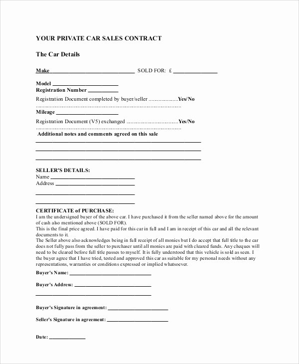 Business Sale Agreement Template Inspirational Sample Sales Contract Agreement 10 Examples In Word Pdf