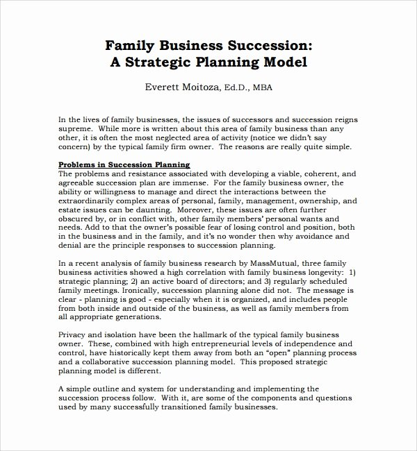 Business Succession Plan Template Fresh 10 Succession Planning Templates