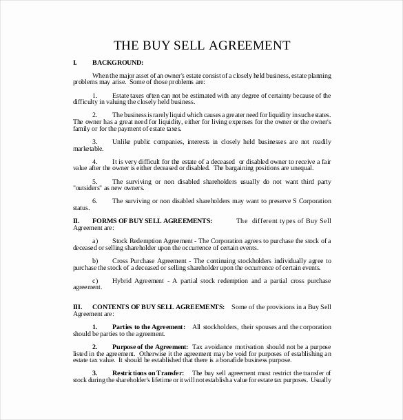 sample sell agreement