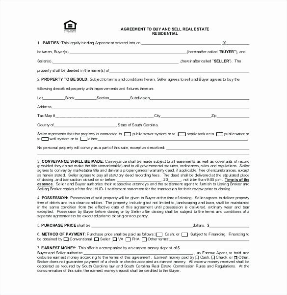 Buy Sell Agreement Template Awesome Home Purchase Agreement Template Free Sale Real Estate