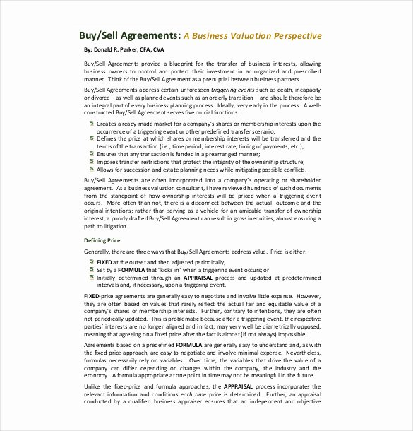 Buy Sell Agreement Template Inspirational 24 Buy Sell Agreement Templates Word Pdf