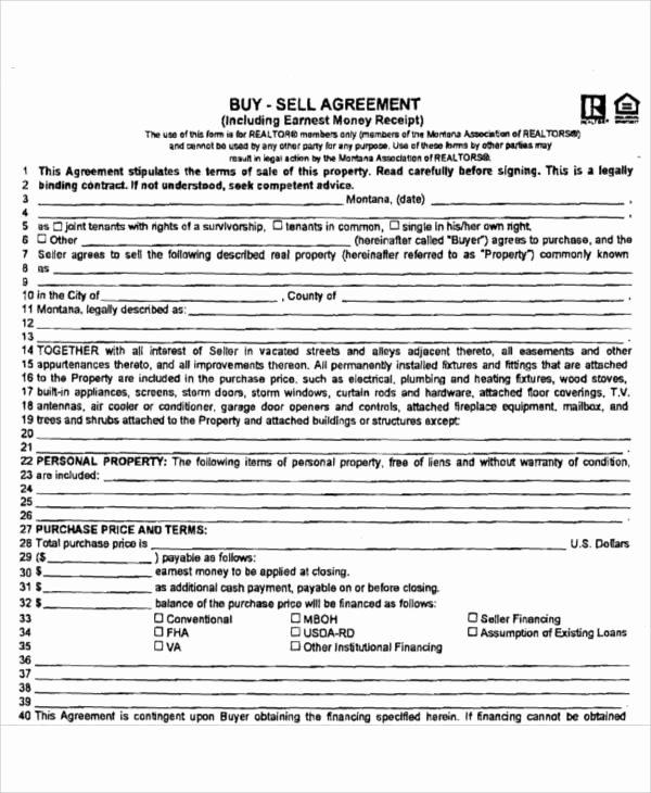 Buy Sell Agreement Template Lovely 58 Printable Agreement Samples