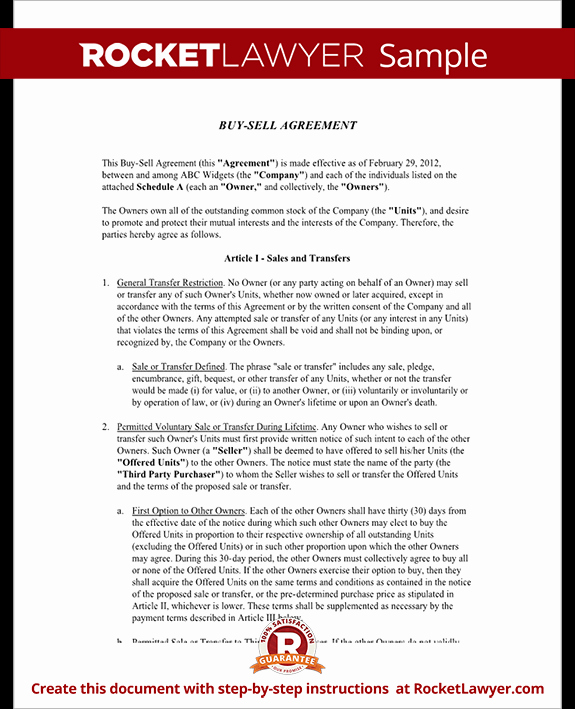 Buy Sell Agreement Template Lovely Buy Sell Agreement form Sample Buy Sell Agreement Template