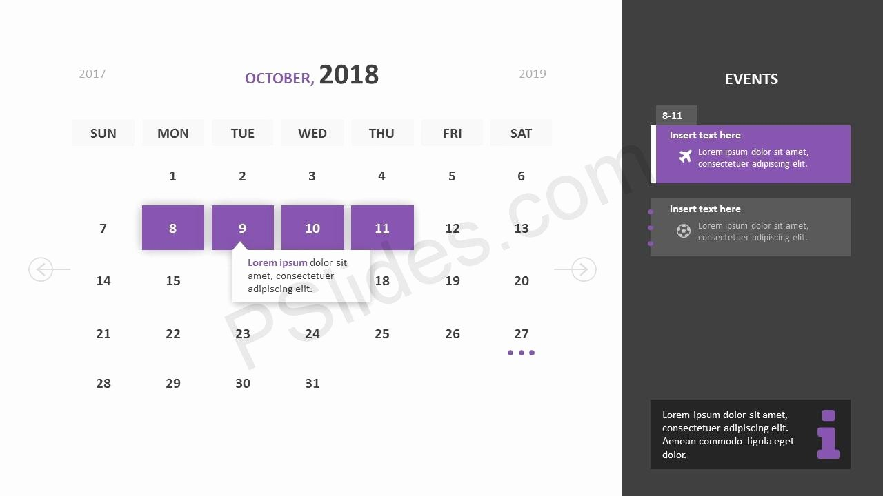 Calendar Template for Powerpoint Best Of Free 2018 Calendar Powerpoint Template Pslides