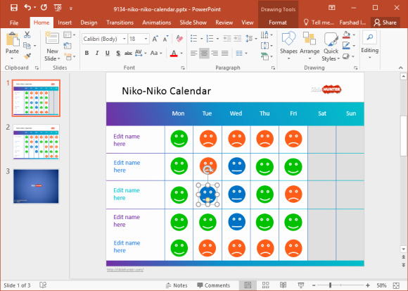Calendar Template for Powerpoint Inspirational Free Mood Calendar for Powerpoint