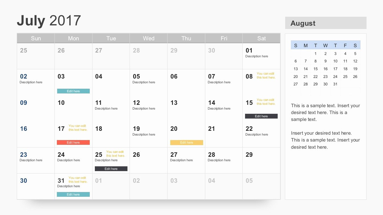 Calendar Template for Powerpoint Luxury Free Calendar 2017 Template