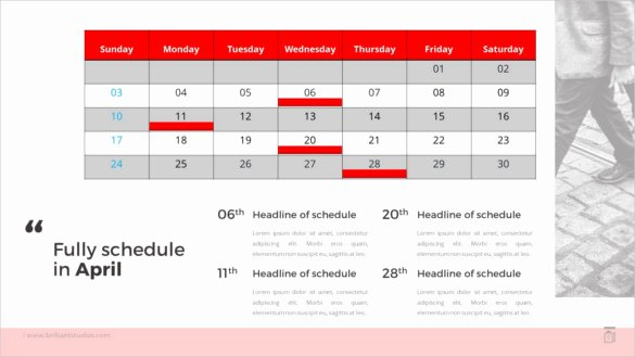 Calendar Template for Powerpoint New 10 Powerpoint Calendar Templates – Free Sample Example