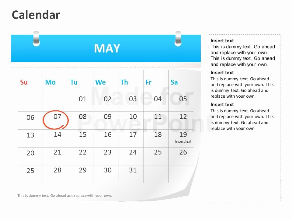 Calendar Template for Powerpoint Unique Calendar Powerpoint Template