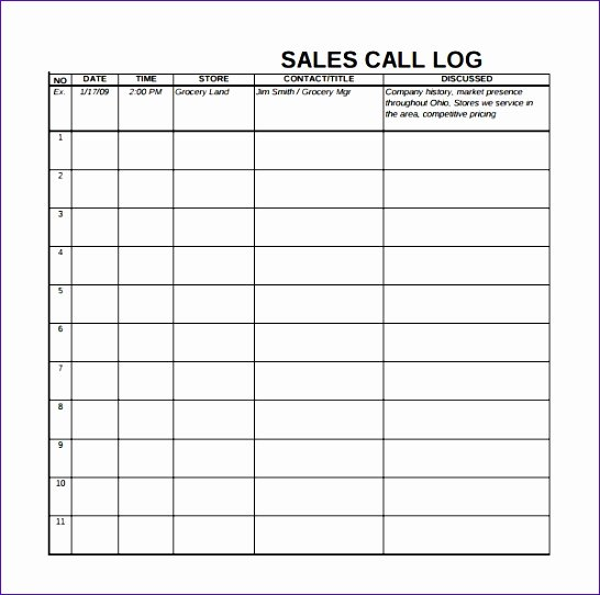 Call Log Template Excel Beautiful Call Log Template