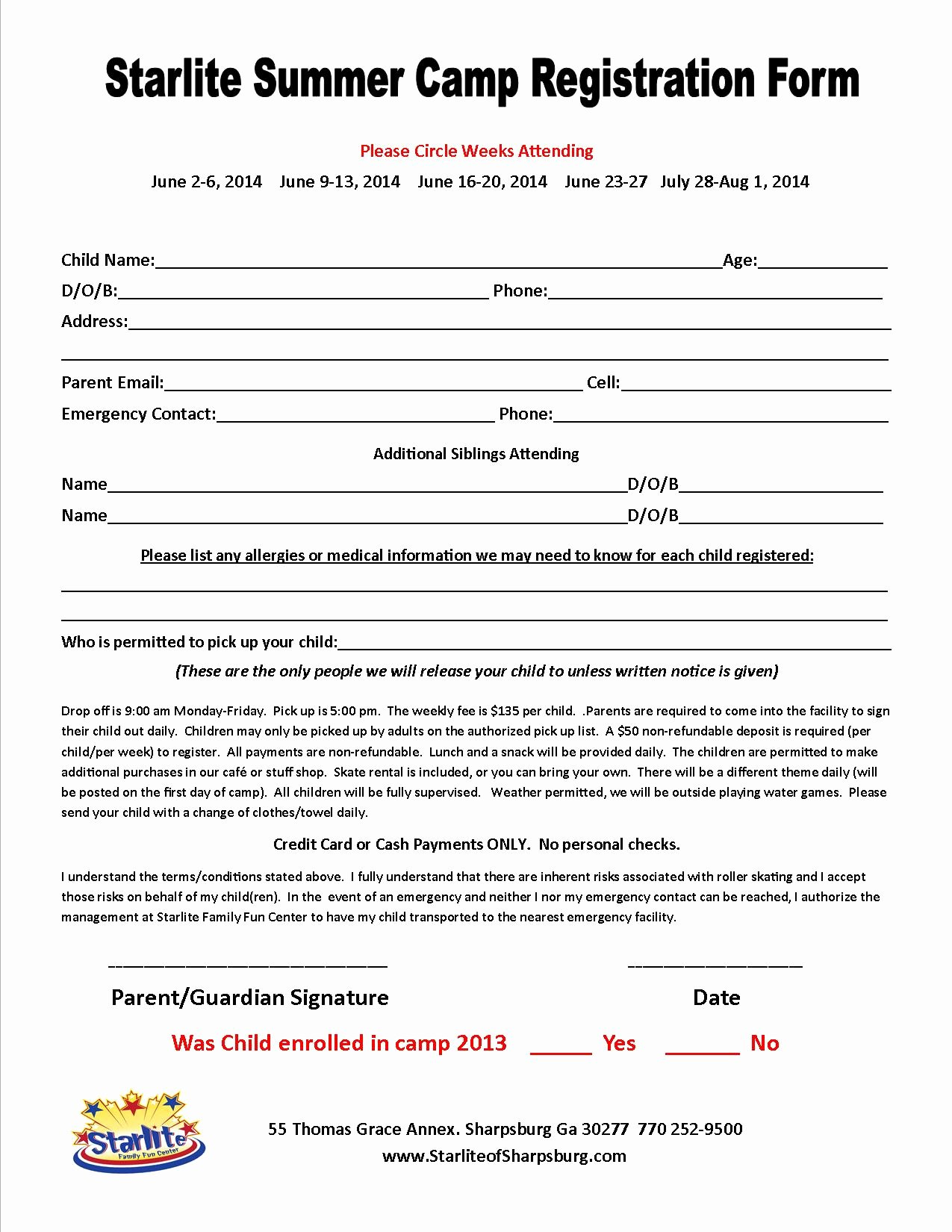 Camp Registration form Template Fresh Great Camp Registration form Template S Free Camp
