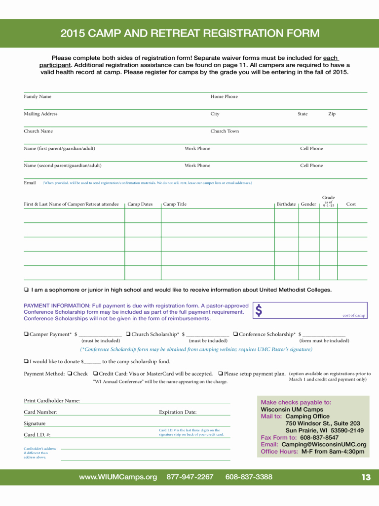 Camp Registration form Template Fresh Retreat Registration form 2 Free Templates In Pdf Word