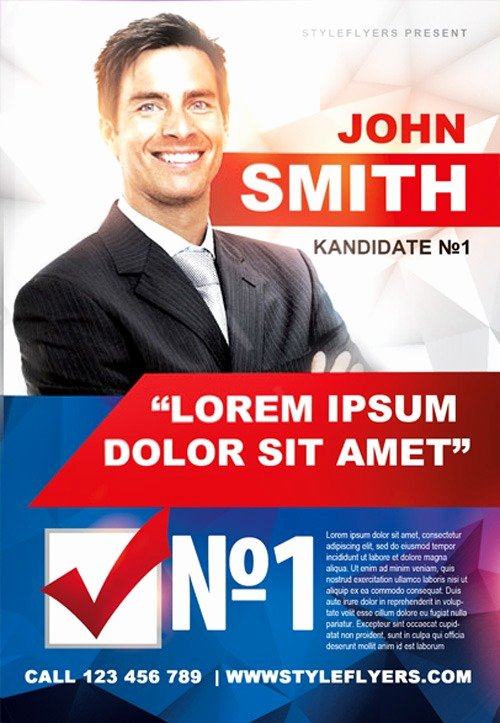 Campaign Flyer Template Free Awesome Political Campaign Free Flyer Template Download for