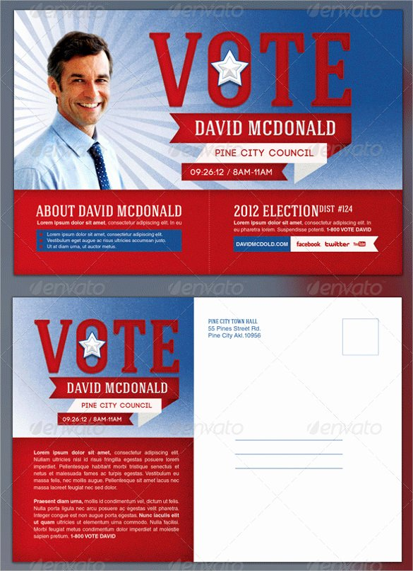 Campaign Flyer Template Free Beautiful Political Flyer Template Election and Mail with Political