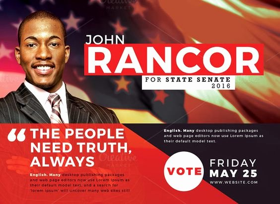 Campaign Flyer Template Free Beautiful Political Flyer Template