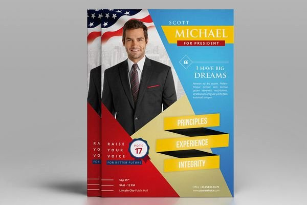 Campaign Flyer Template Free Elegant Campaign Flyers Design Yourweek 4f61c4eca25e