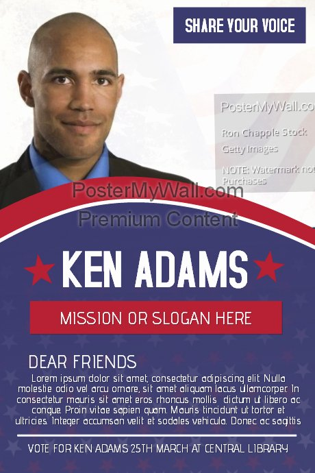 Campaign Flyer Template Free Elegant Political Voting Campaign Flyer Template