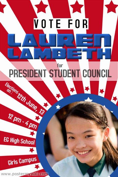 Campaign Flyer Template Free Elegant School Election Campaign Flyer Template